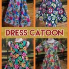 Kulakan Dress Catton Anak Perempuan Karakter Murah