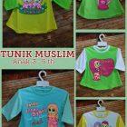 Distributor Kaos Tunik Muslim 3-5 th Murah Surabaya 20ribuan