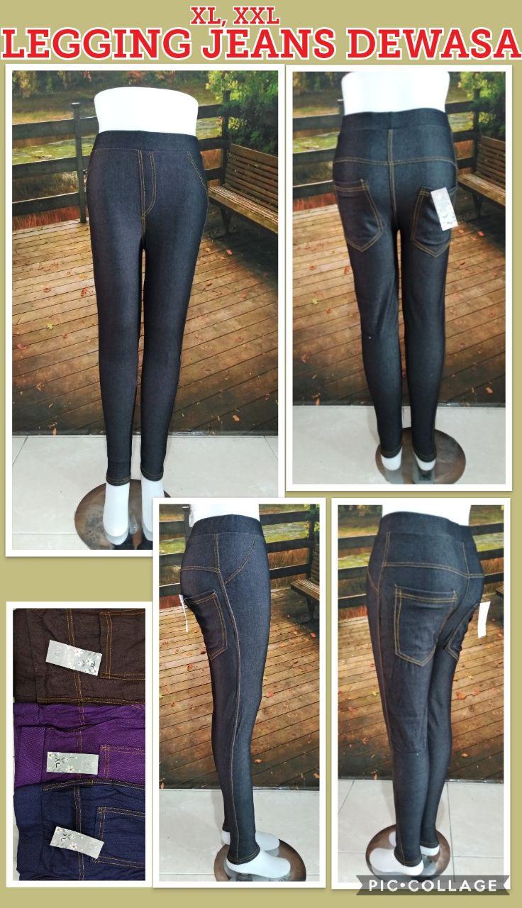 Grosir Legging Jeans Dewasa Murah 28ribuan