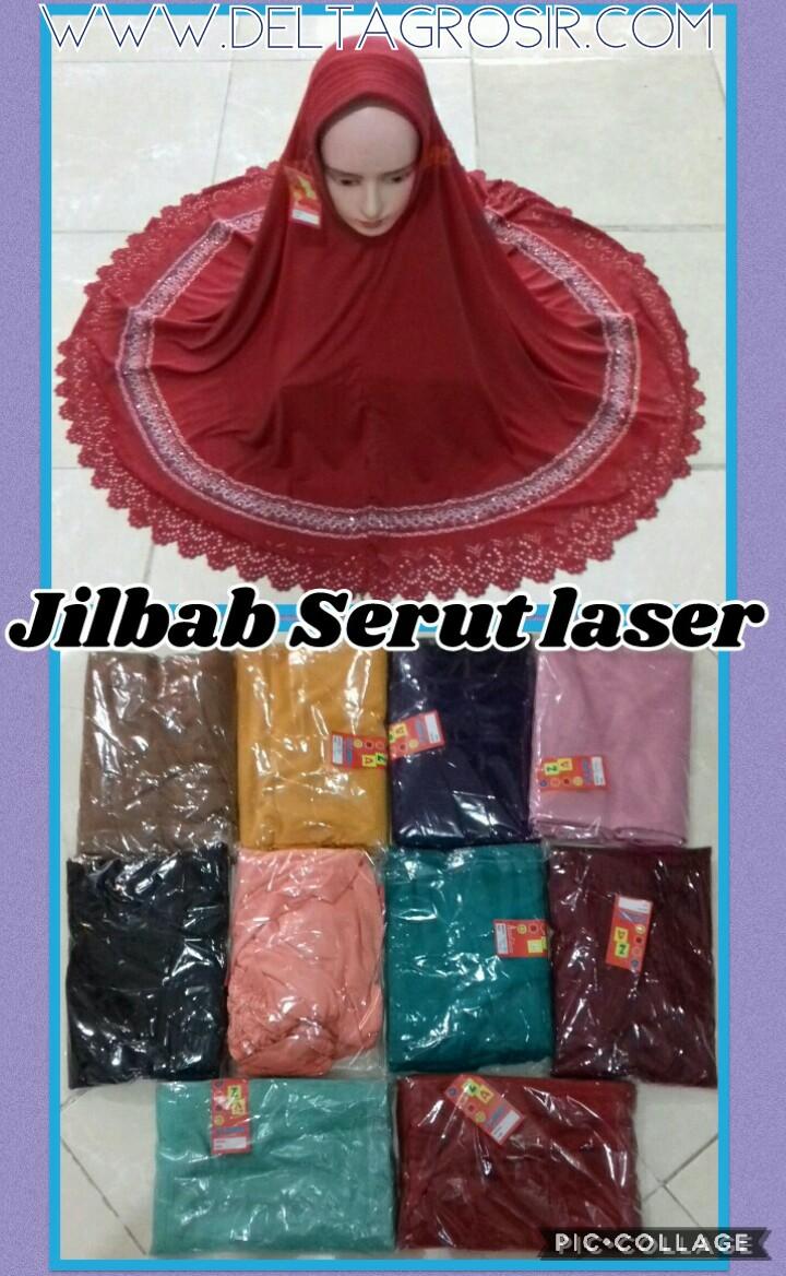 Grosir Murah di Surabaya Konveksi Jilbab Serut Pita Laser Dewasa Murah Surabaya 27Ribu
