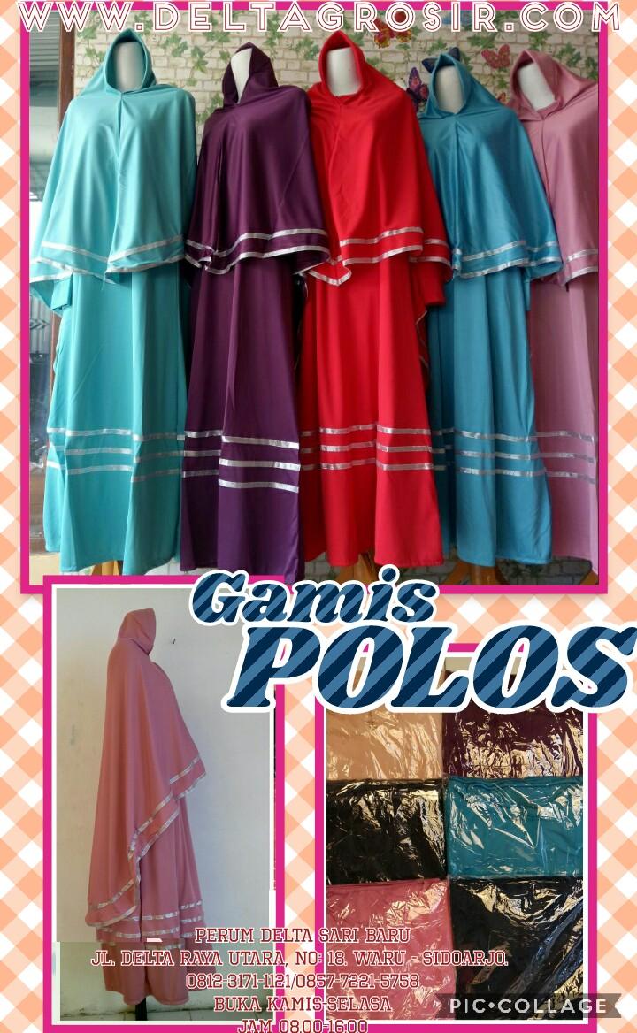 Grosir Murah di Surabaya Supplier Gamis Jersey Polos Syari Dewasa Murah Surabaya 64Ribu