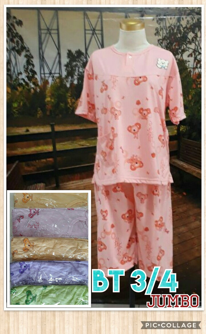 Kulakan Baju Tidur Katun 34 Jumbo Dewasa Murah Surabaya