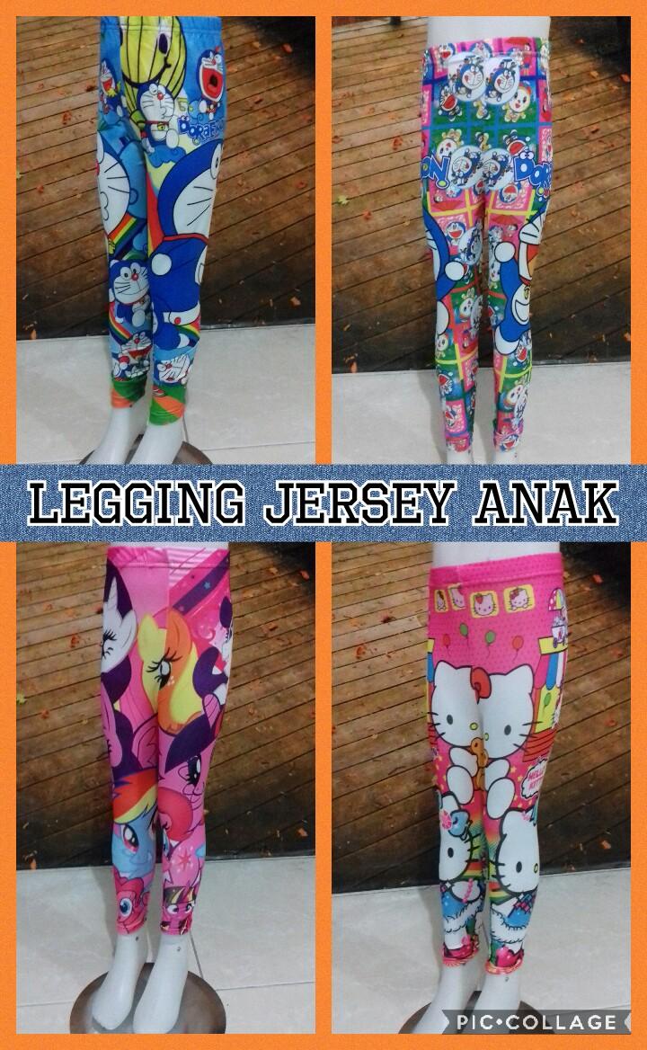 Grosir Murah di Surabaya Pabrik Celana Legging Jersey Anak Karakter Murah Surabaya 18Ribu