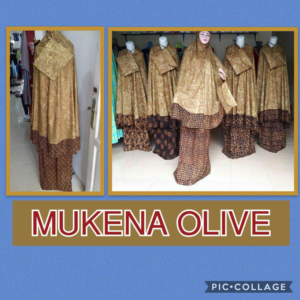 Grosir Murah di Surabaya Konveksi Mukena Olive Dewasa Murah 92ribuan