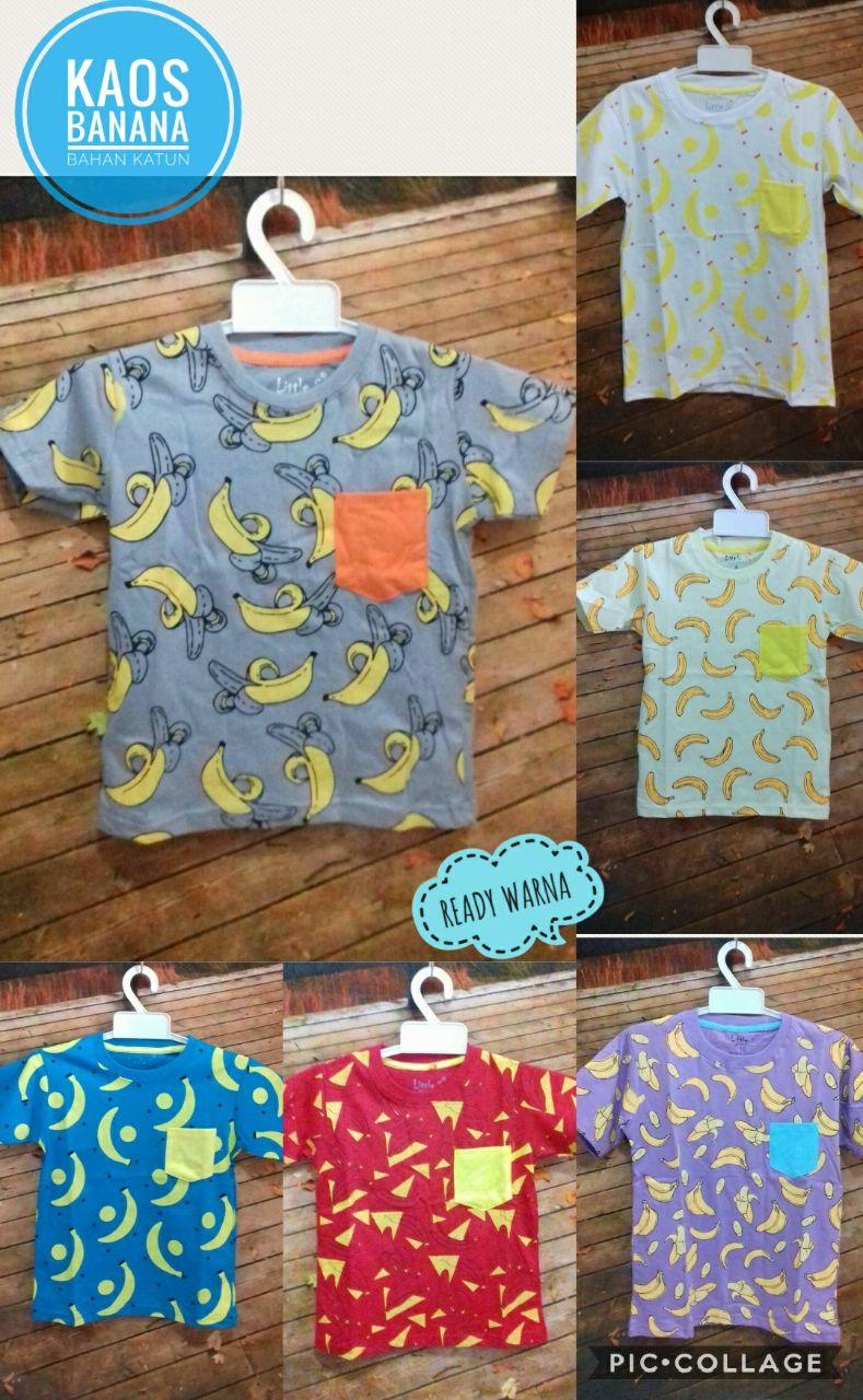 Grosir Kaos Banana Anak Murah Surabaya 22ribuan