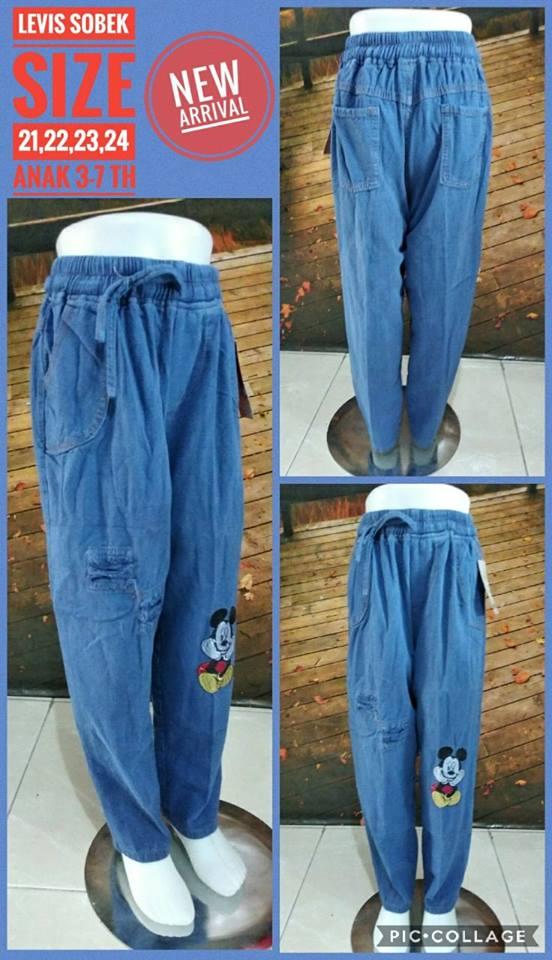 Pabrik celana levis sobek anak murah surabaya 32ribuan