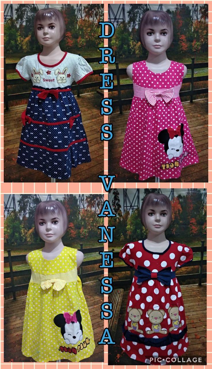 Grosir Murah di Surabaya Supplier Dress Vanessa Anak Murah 40ribuan
