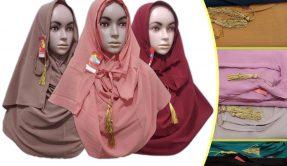 Grosir Murah di Surabaya Pabarik Jilbab Pastan Tali Murah 26ribuan