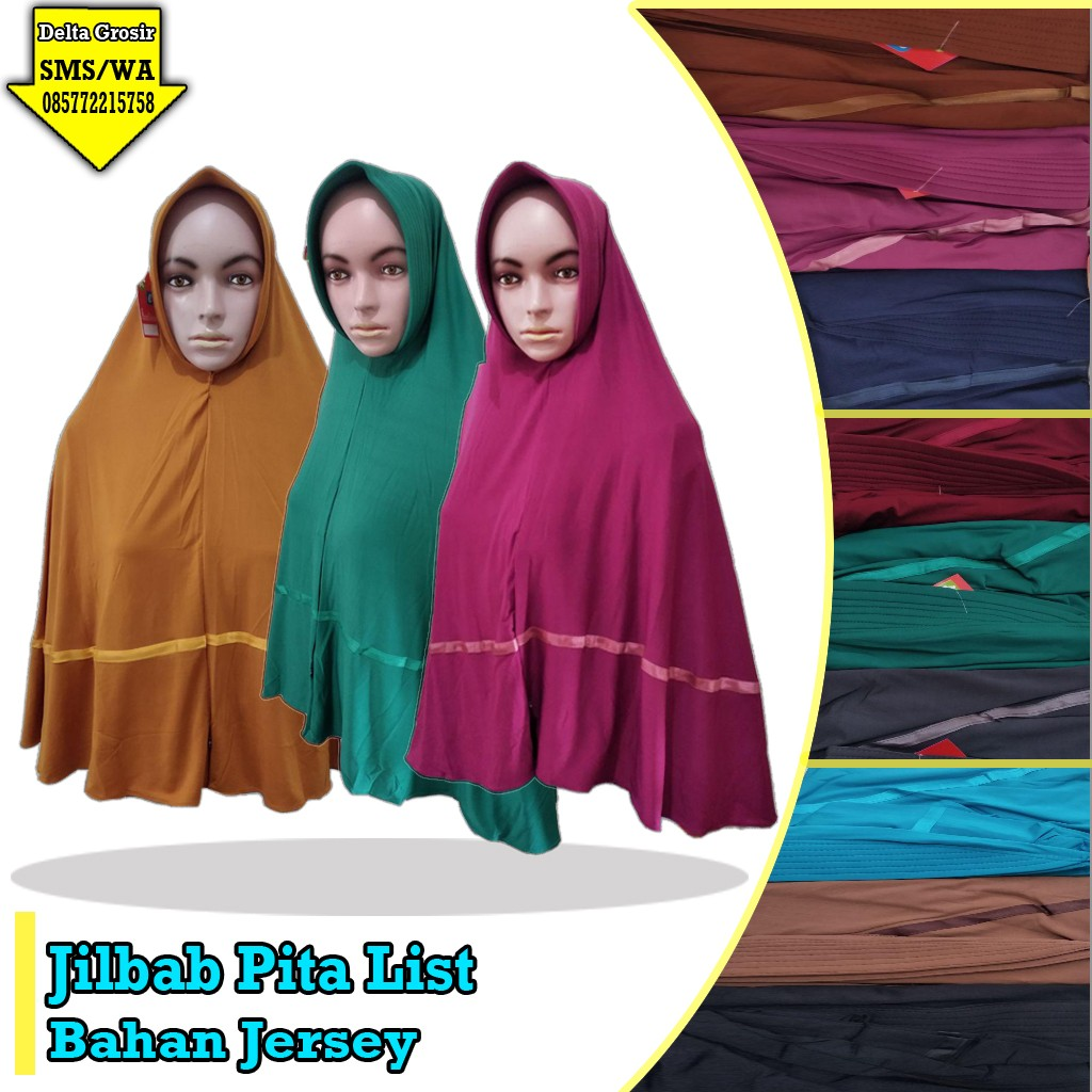 Pusat Kulakan Jilbab Pita List Murah 28ribuan