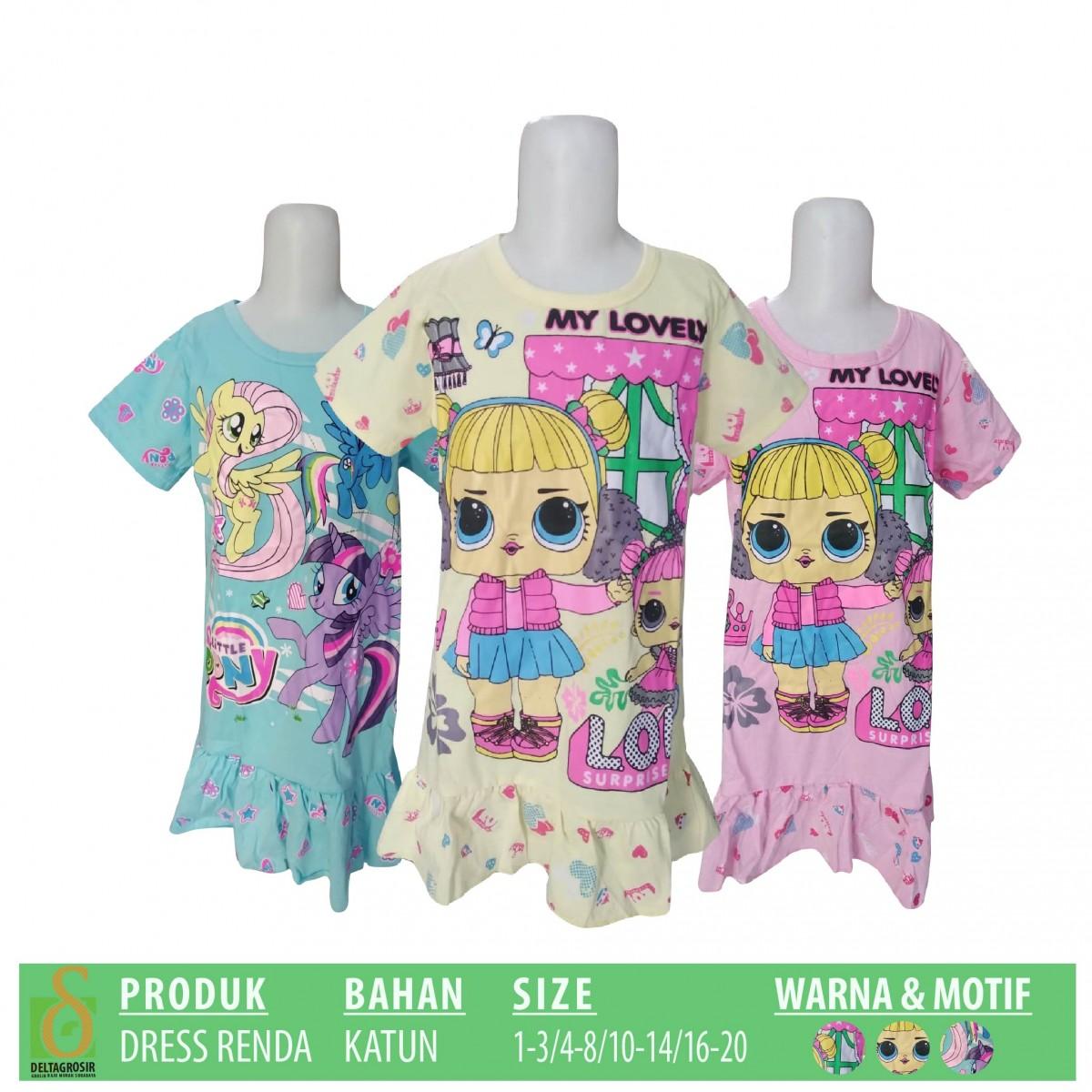 Grosir Dress Renda Anak Murah di Surabaya